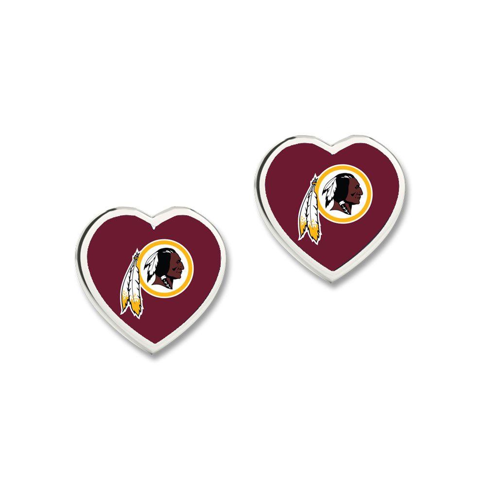 amfoo - Wincraft Damen 3D Herz Ohrstecker - NFL Washington Redskins