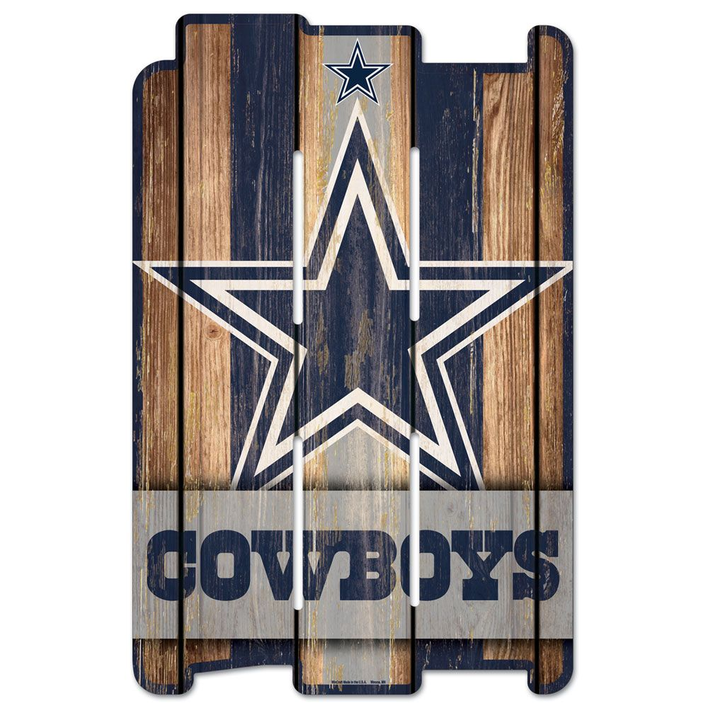 amfoo - Wincraft PLANK Holzschild Wood Sign - NFL Dallas Cowboys