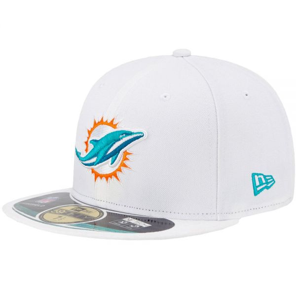 New Era Cap - NFL ON FIELD Miami Dolphins weiß