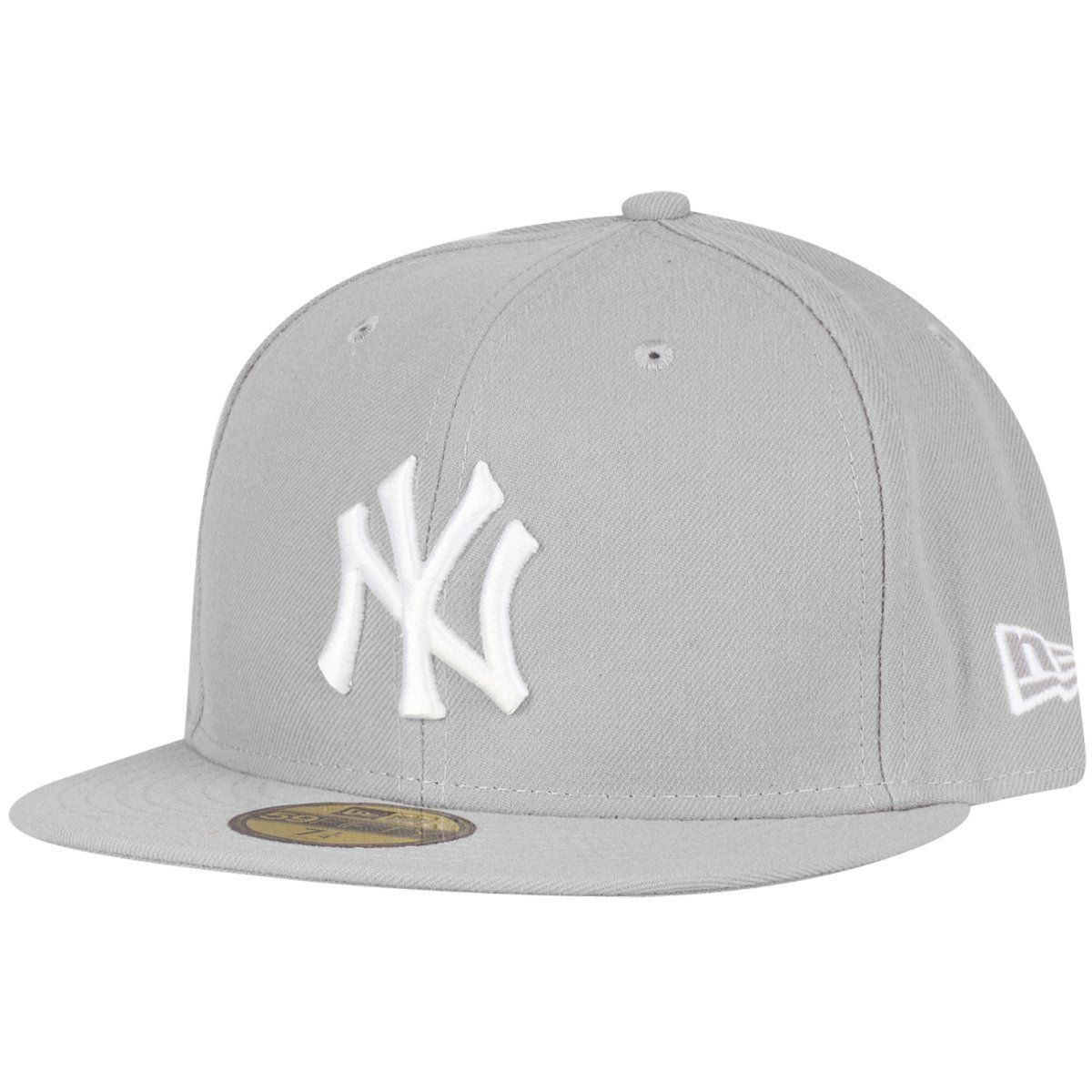 amfoo - New Era 59Fifty Cap - BASIC New York Yankees grau / weiß