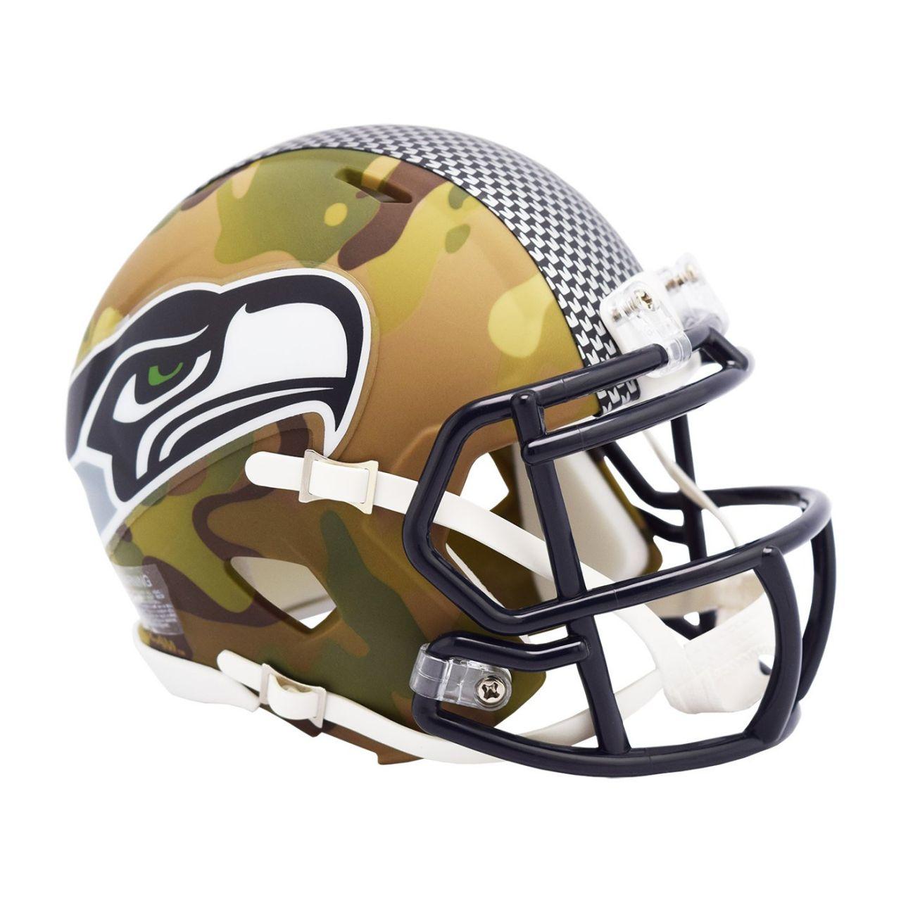 amfoo - Riddell Mini Football NFL Helm MULTICAM Seattle Seahawks