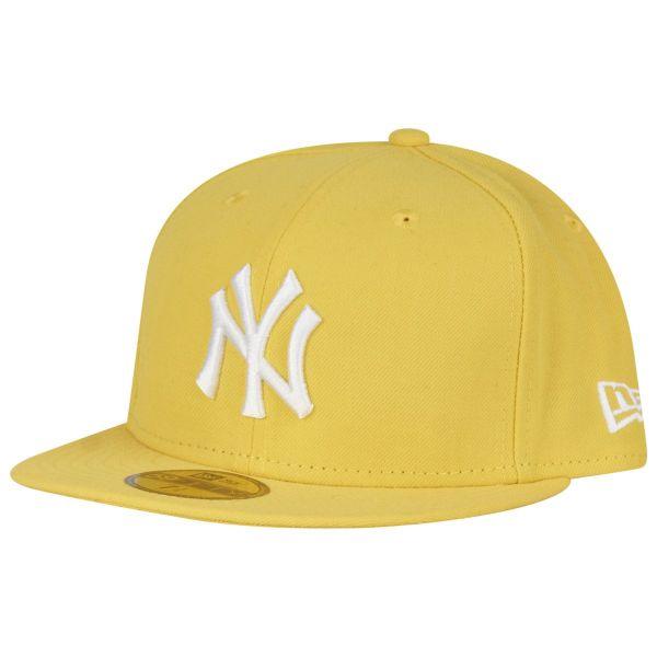 New Era 59Fifty Cap - BASIC New York Yankees gelb / weiß