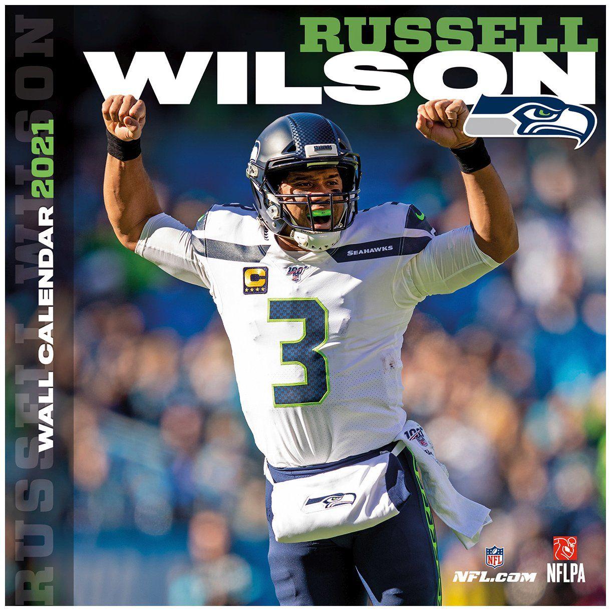 amfoo - NFL Wand-Kalender 2021 Seattle Seahawks Russel Wilson
