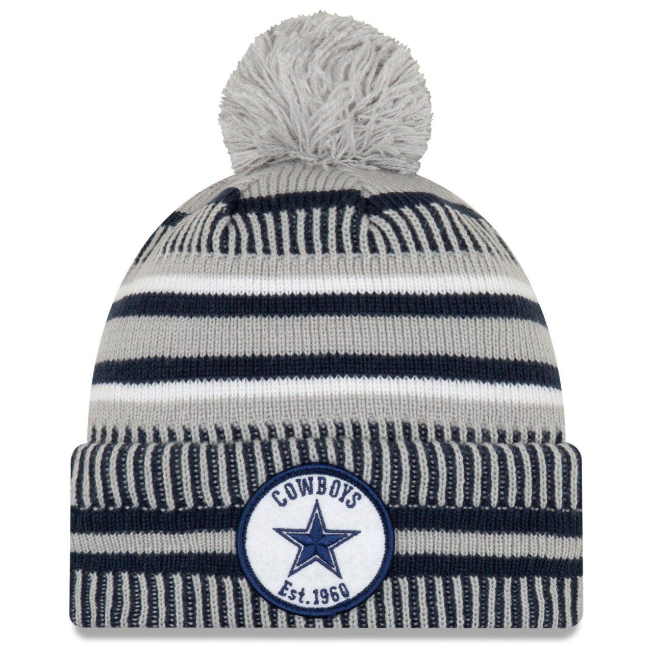 amfoo - New Era Sideline Home 2019 Bommel Mütze Dallas Cowboys