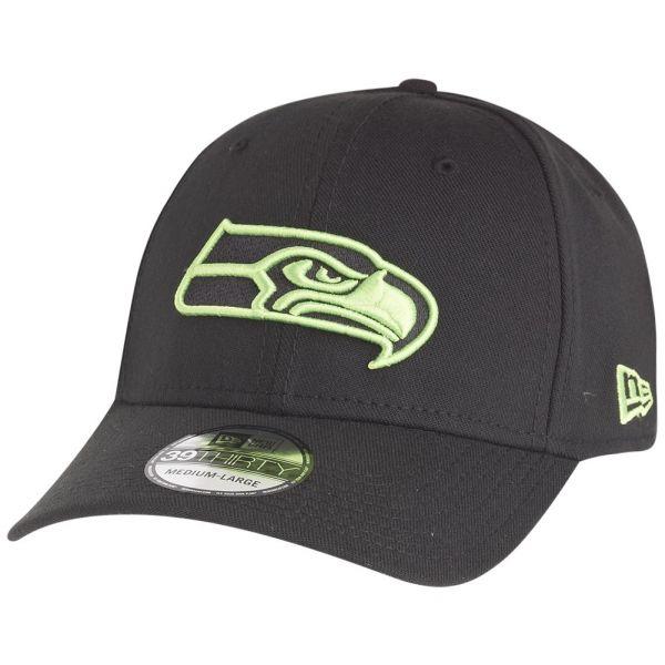 New Era 39Thirty Cap - NFL Seattle Seahawks schwarz