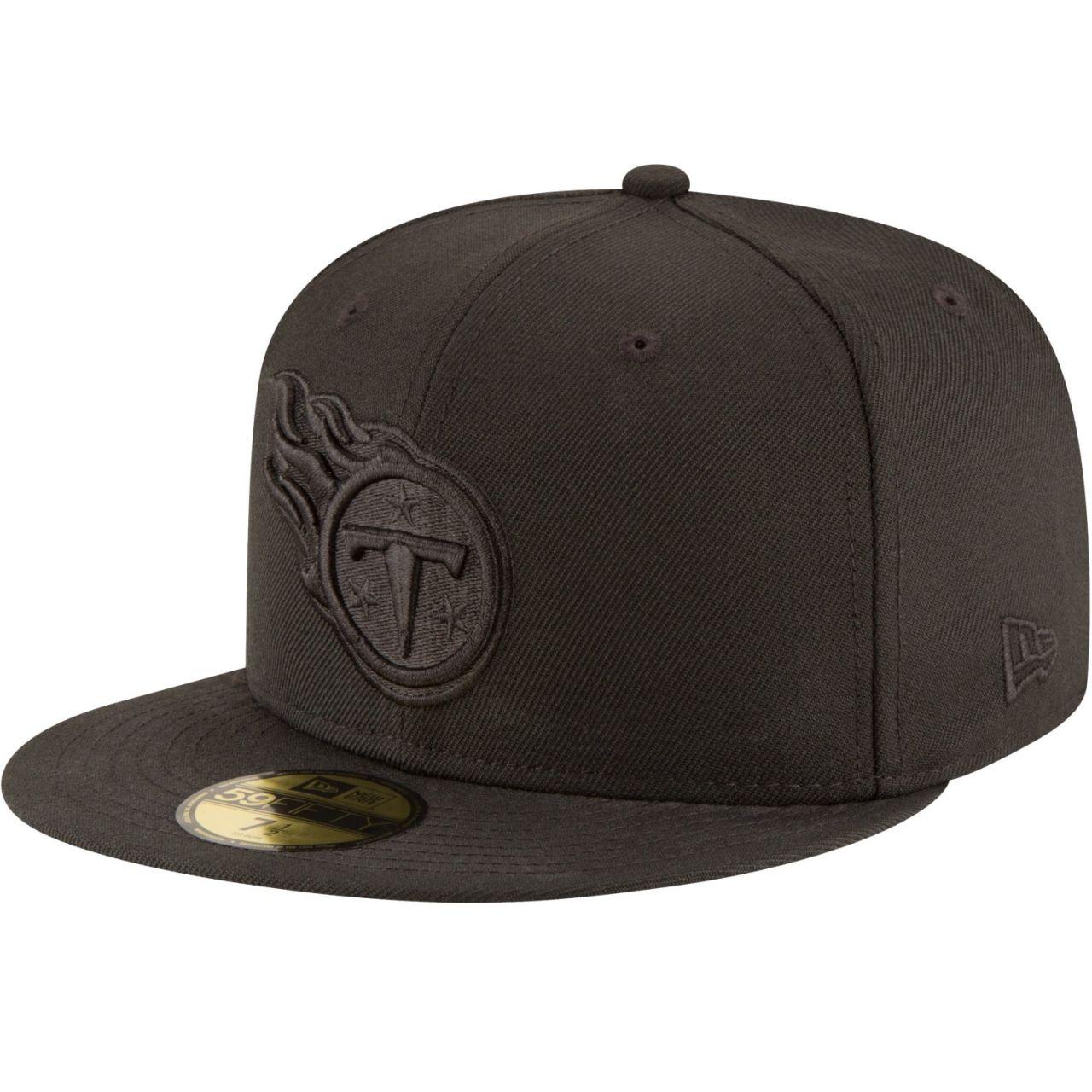amfoo - New Era 59Fifty Cap - NFL BLACK Tennessee Titans