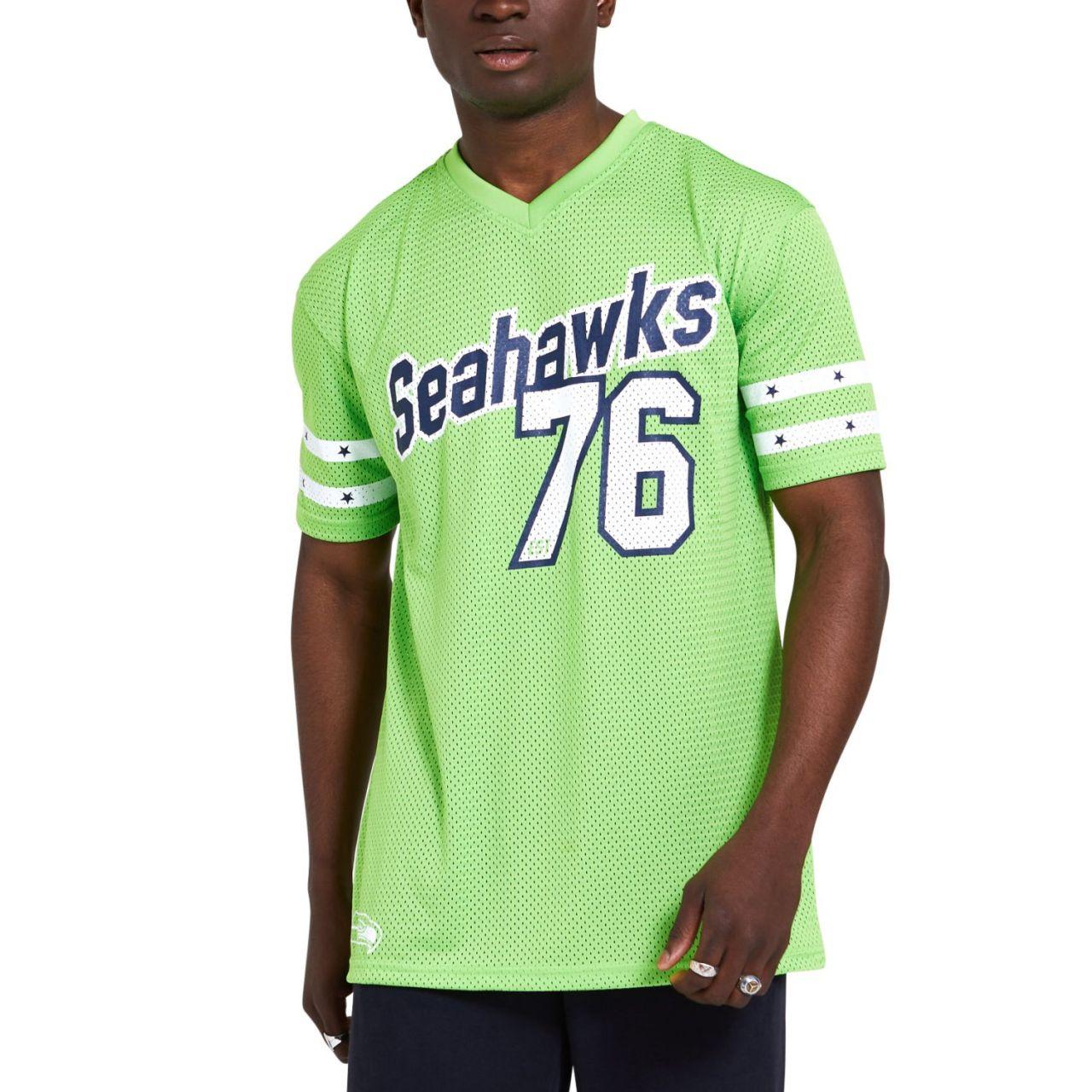 amfoo - New Era Oversized Jersey Mesh Trikot - Seattle Seahawks