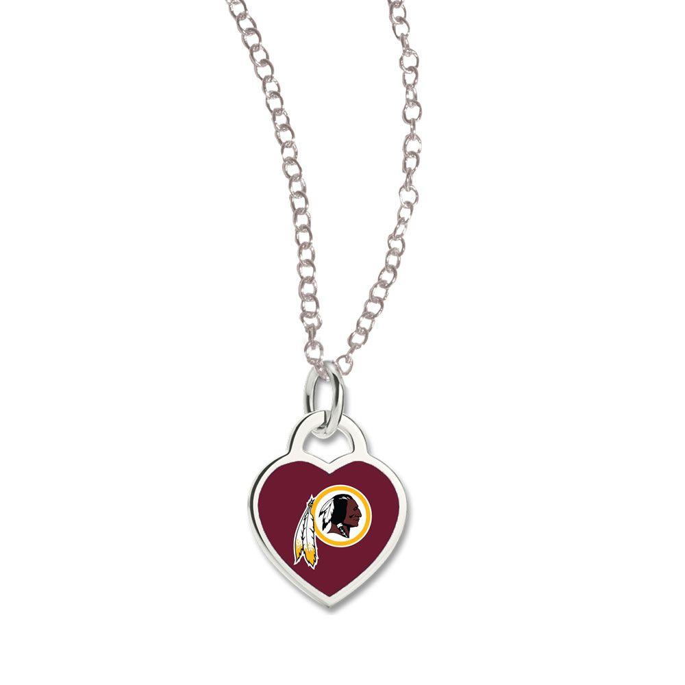 amfoo - Wincraft Damen Herz Halskette - NFL Washington Redskins