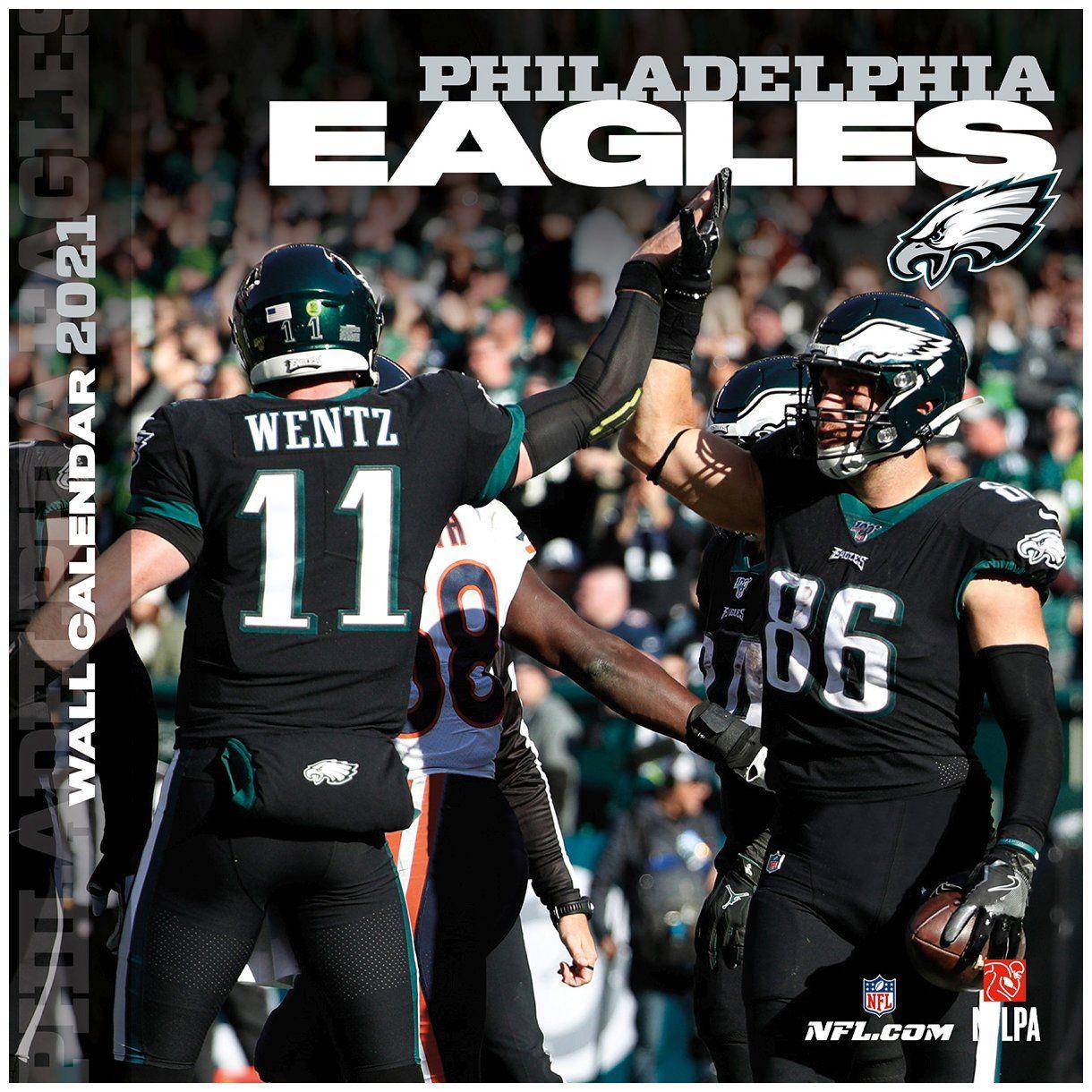 amfoo - Turner NFL 30x30cm Wand-Kalender 2021 Philadelphia Eagles