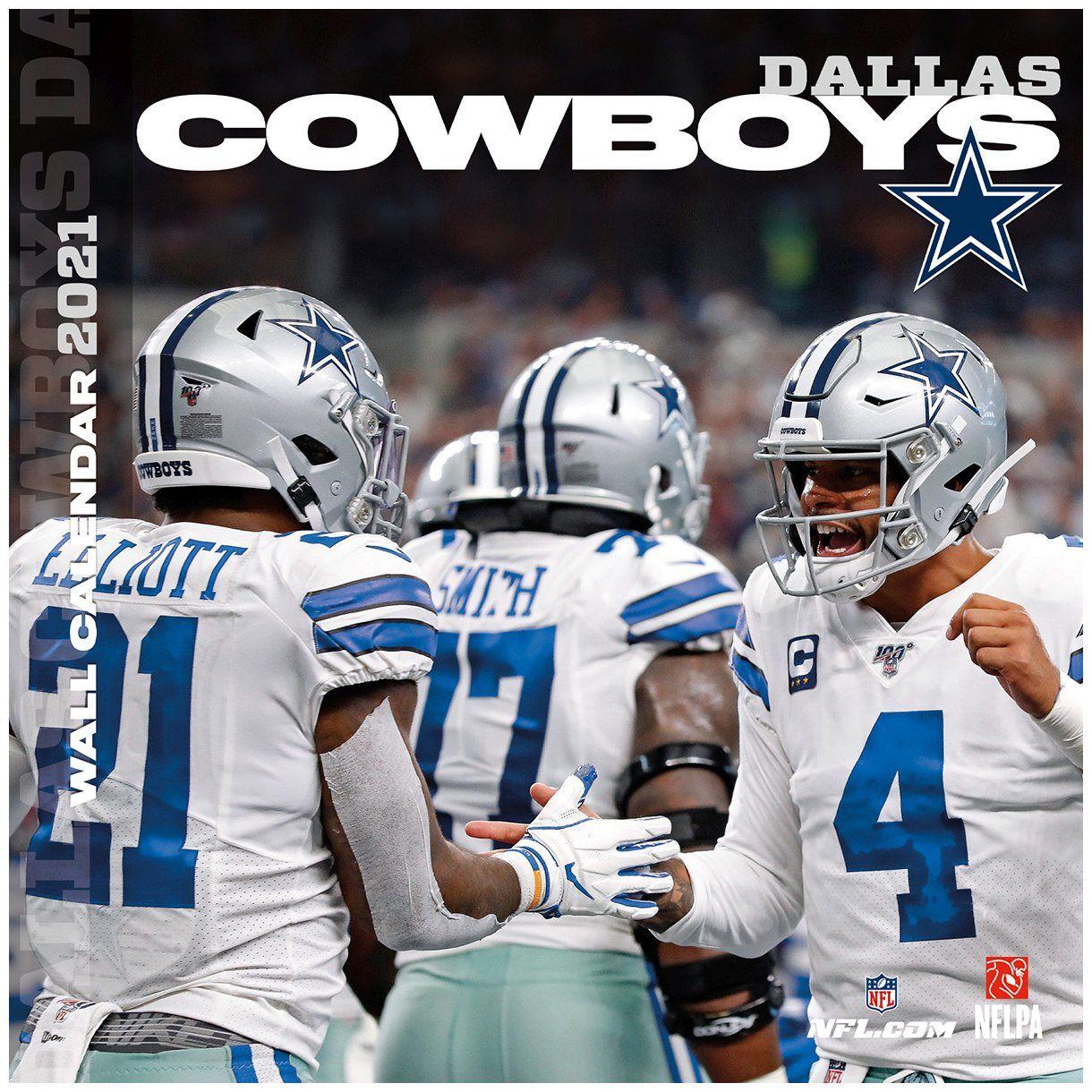 amfoo - Turner NFL 30x30cm Wand-Kalender 2021 Dallas Cowboys