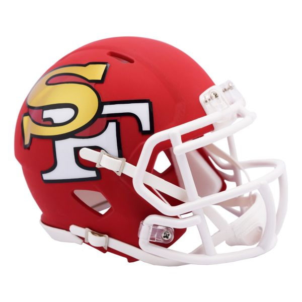 Riddell Speed Mini Football Helm - AMP San Francisco 49ers