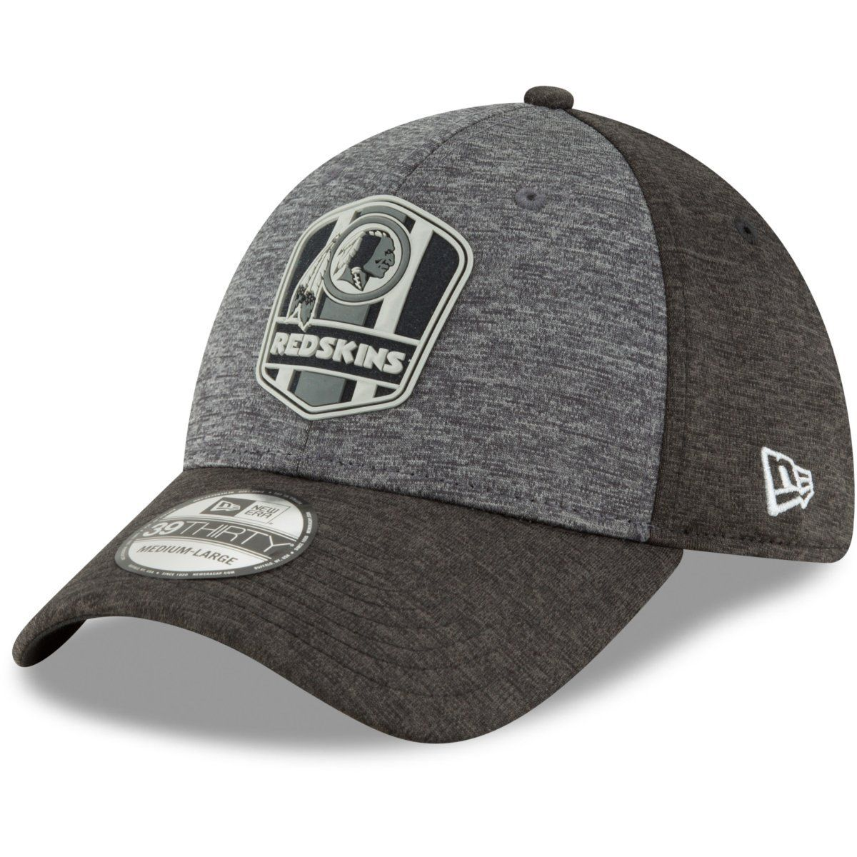 amfoo - New Era 39Thirty Cap - Black Sideline Washington Redskins