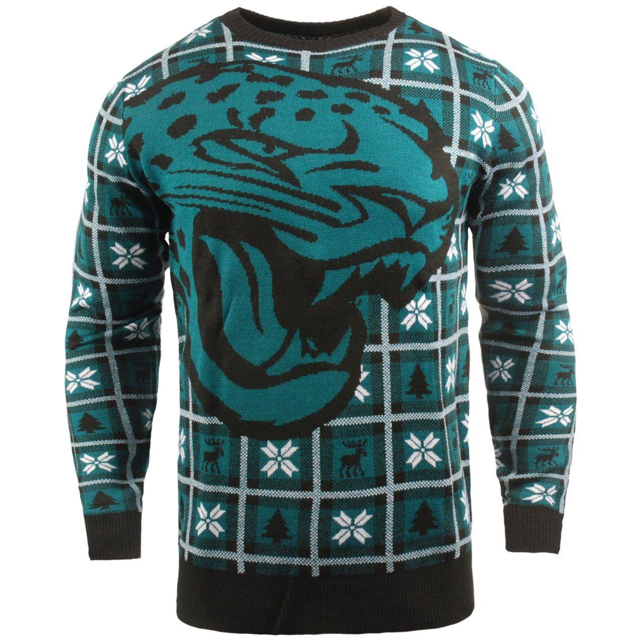 amfoo - NFL Ugly Sweater XMAS Strick Pullover - Jacksonville Jaguars