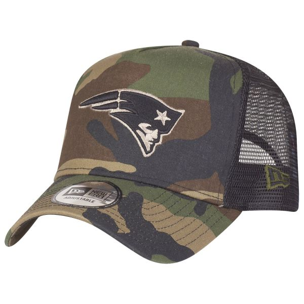 New Era Adjustable Trucker Cap - New England Patriots camo