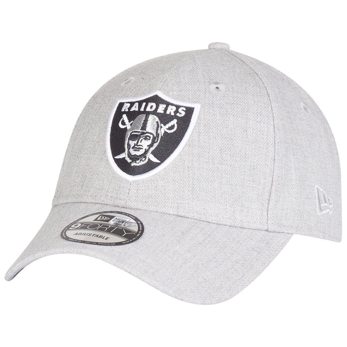 amfoo - New Era 9Forty Strapback Cap - Oakland Raiders heather grau