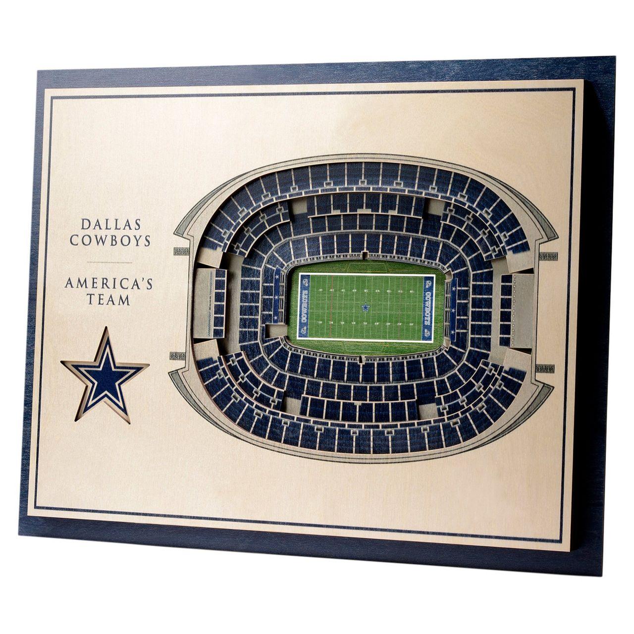 amfoo - YouTheFan Holz Wanddeko Stadion Dallas Cowboys 43x33cm
