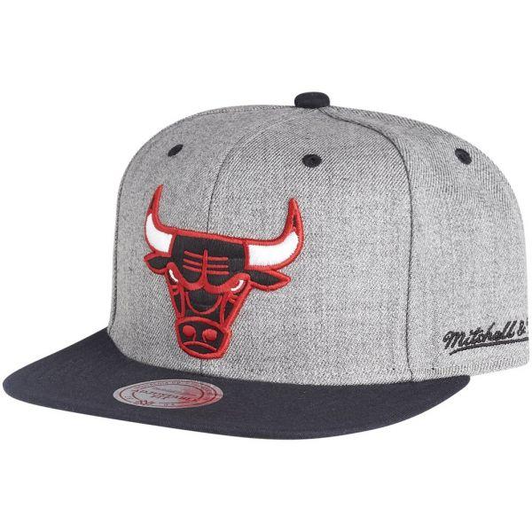 Mitchell & Ness Strapback Cap - BACKBOARD Chicago Bulls grau
