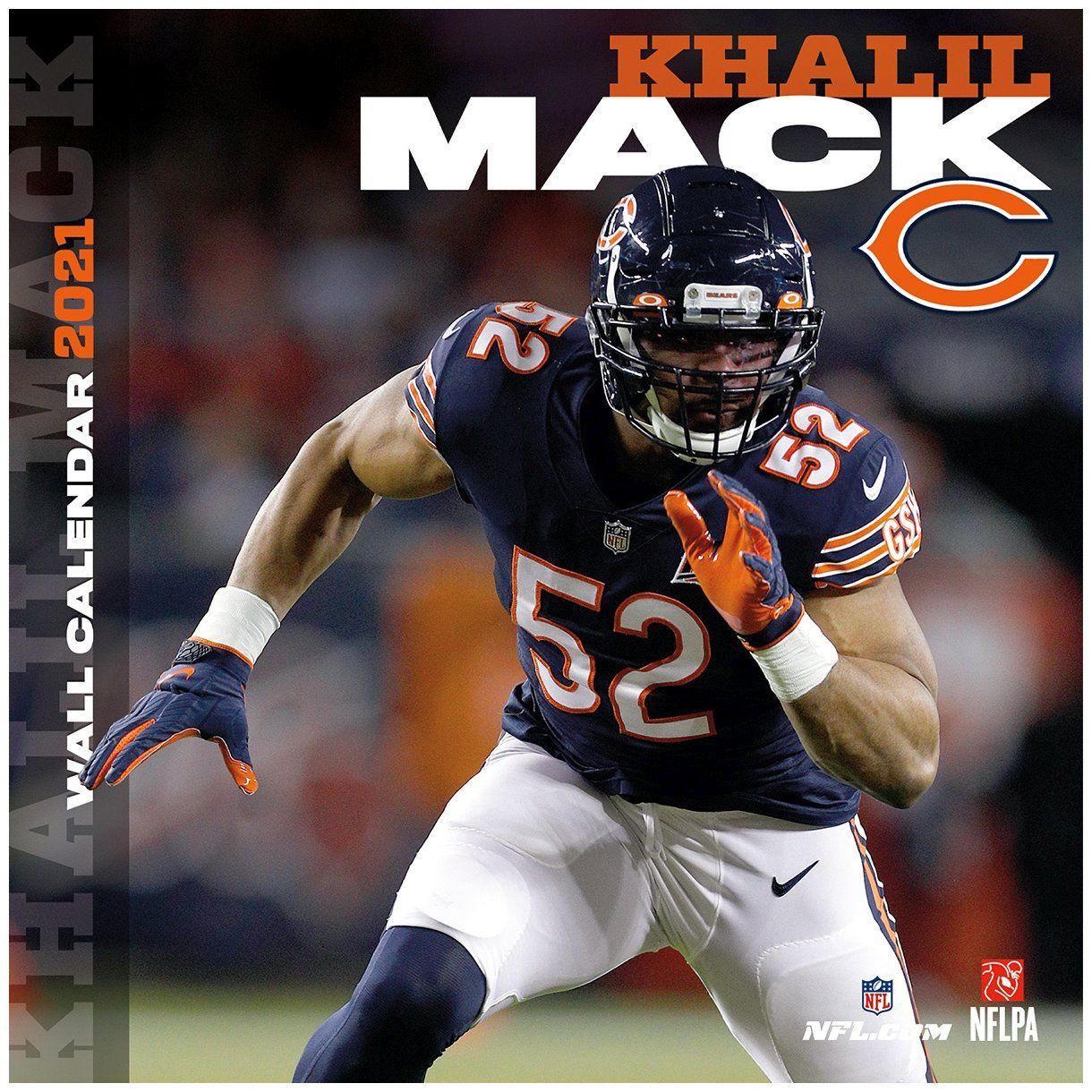 amfoo - NFL 30x30 Wand-Kalender 2021 Chicago Bears Khalil Mack