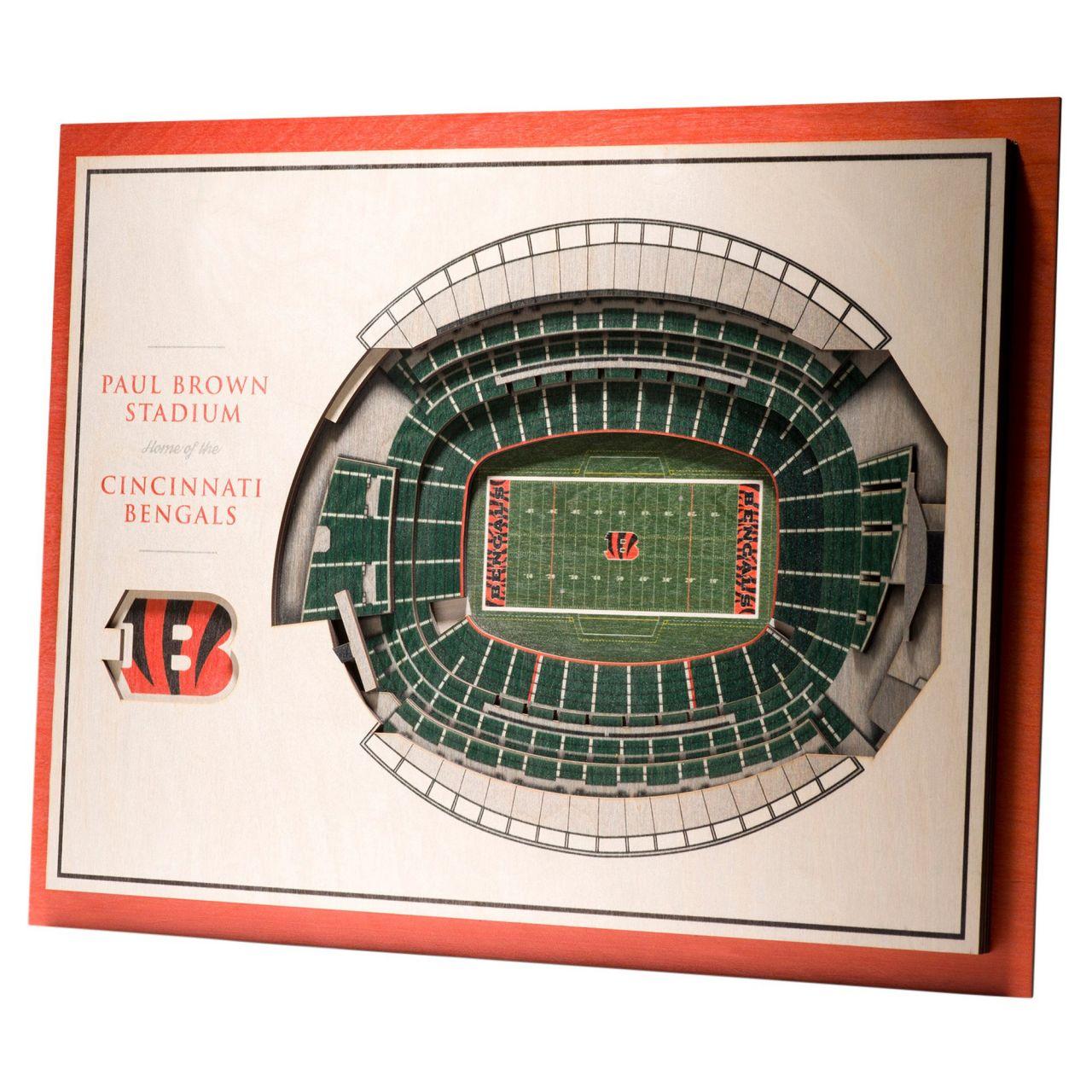 amfoo - YouTheFan Holz Wanddeko Stadion Cincinnati Bengals 43x33cm