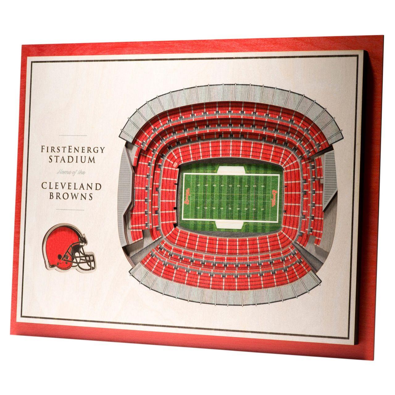 amfoo - YouTheFan Holz Wanddeko Stadion Cleveland Browns 43x33cm