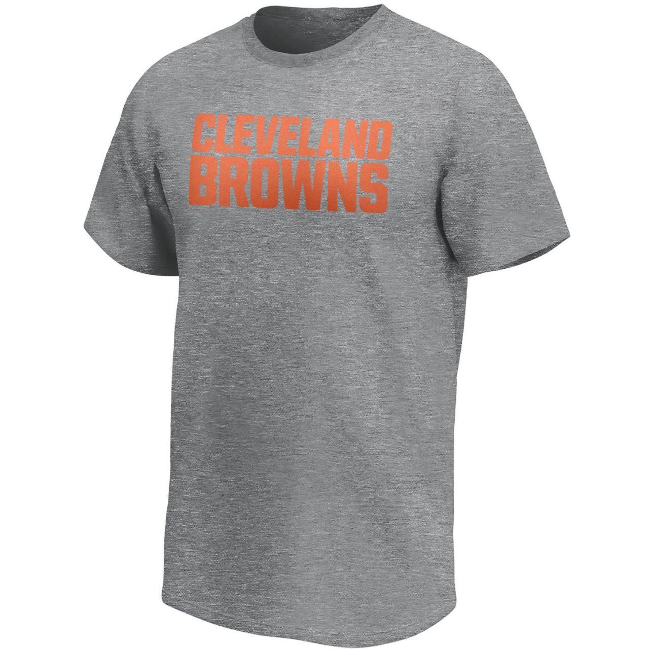 amfoo - Cleveland Browns NFL Fan T-Shirt Wordmark Logo grau