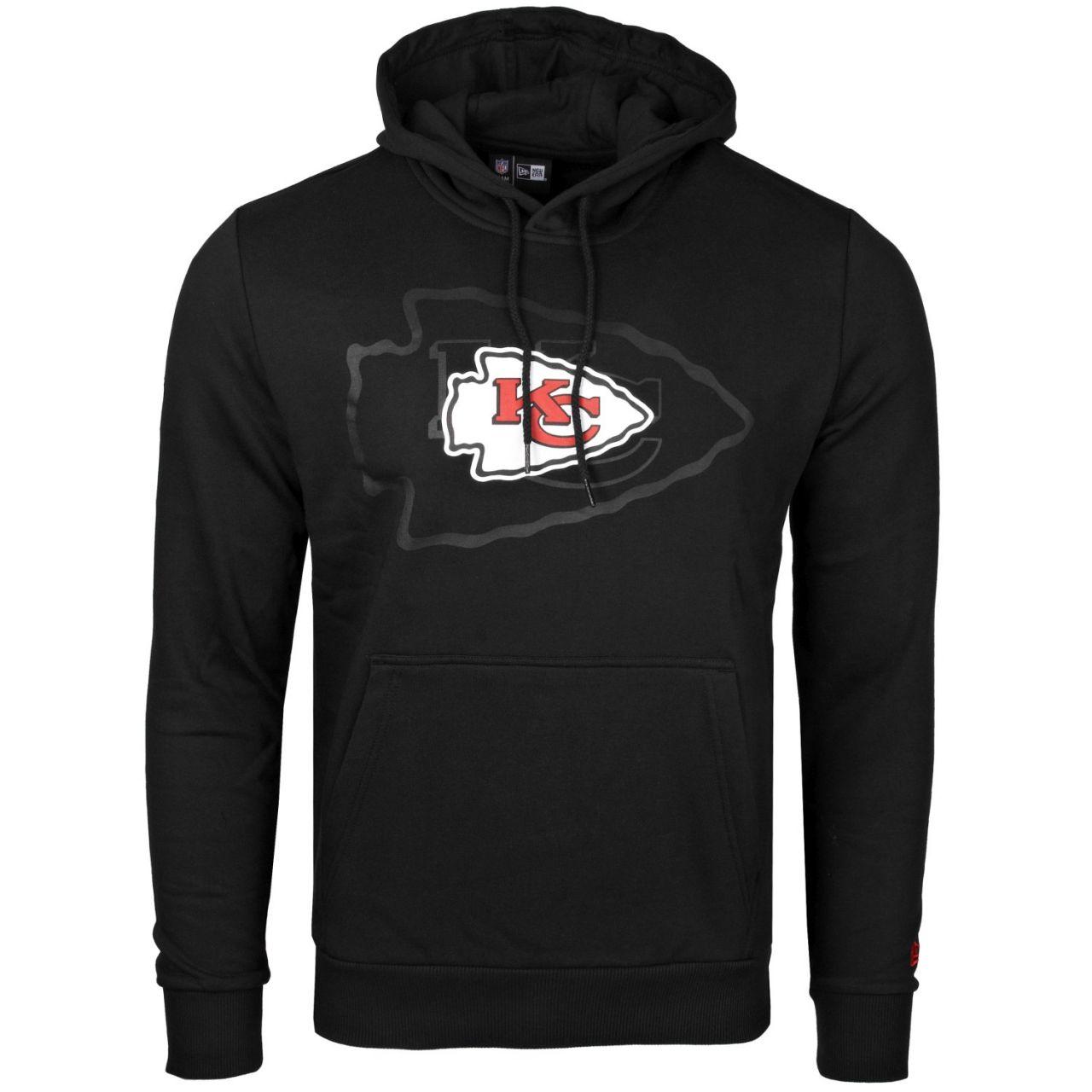 amfoo - New Era Fleece Hoody - NFL Kansas City Chiefs 2.0 schwarz