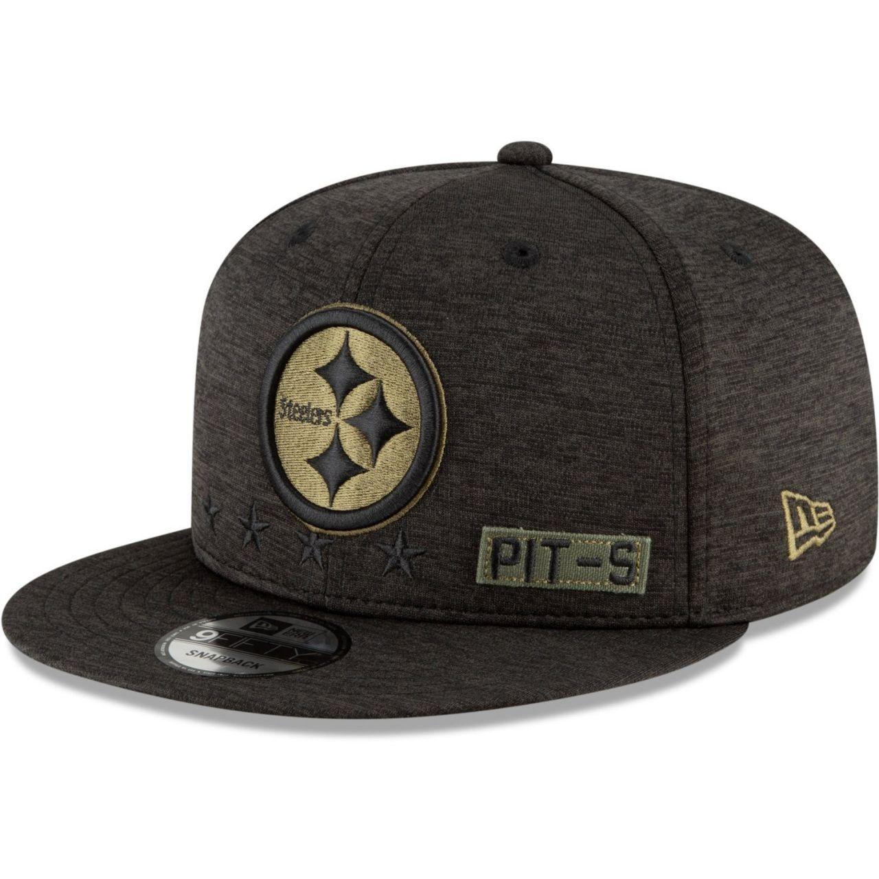 amfoo - New Era 9FIFTY Cap Salute to Service Pittsburgh Steelers