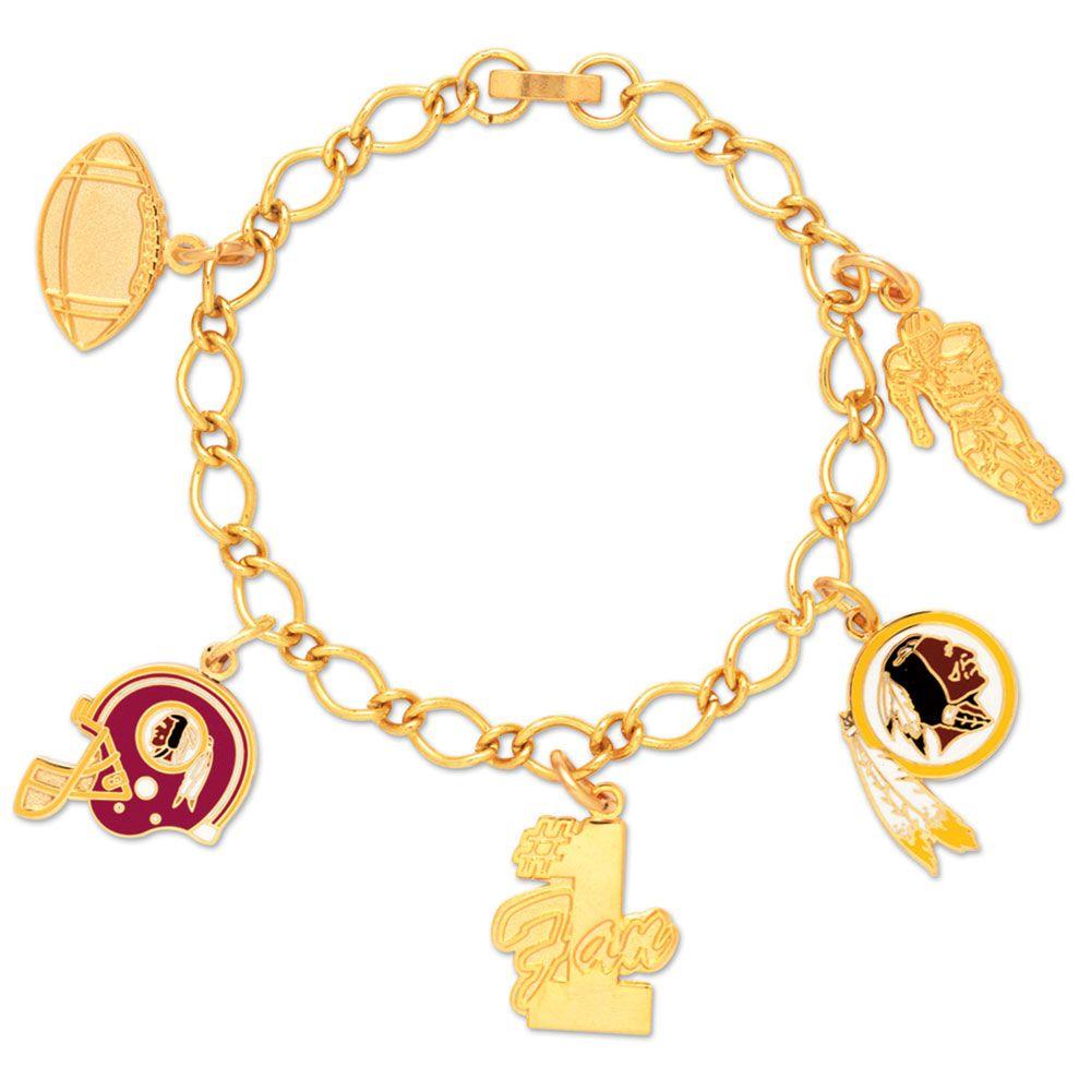 amfoo - Wincraft Damen Charms Armband - NFL Washington Redskins