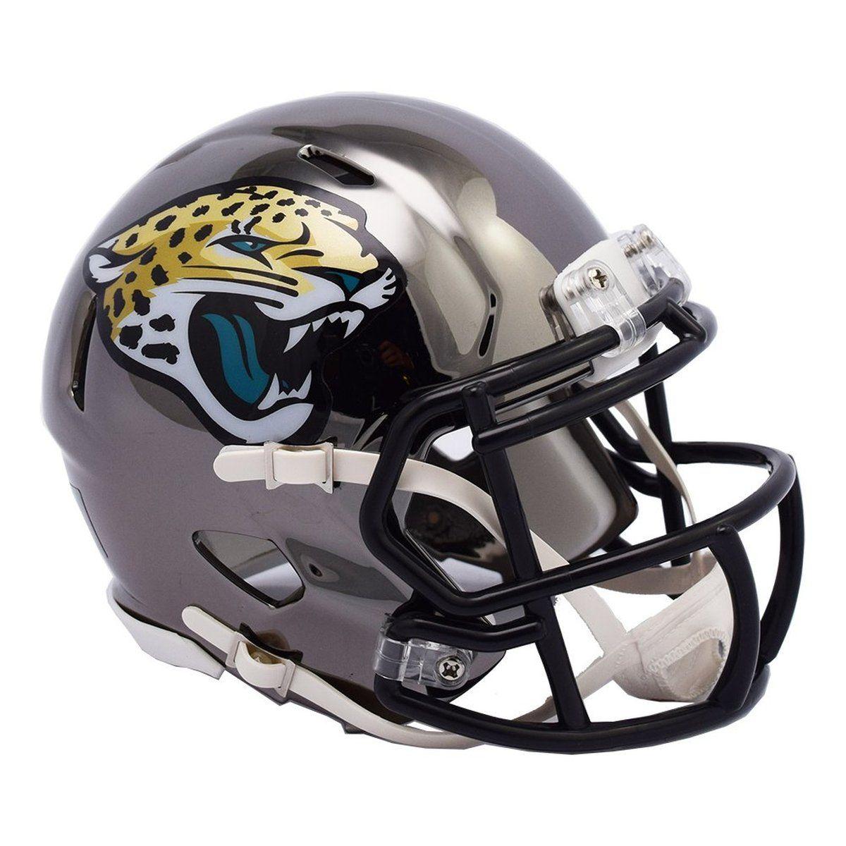 amfoo - Riddell Mini Football Helm - NFL CHROME Jacksonville Jaguars