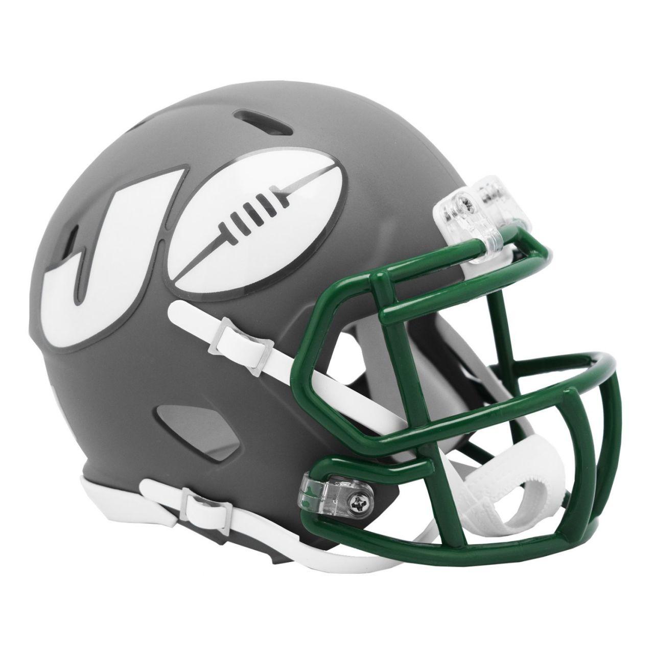 amfoo - Riddell Speed Mini Football Helm - NFL AMP New York Jets