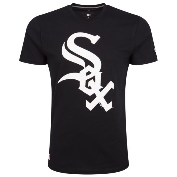 New Era Basic Shirt - MLB Chicago White Sox schwarz