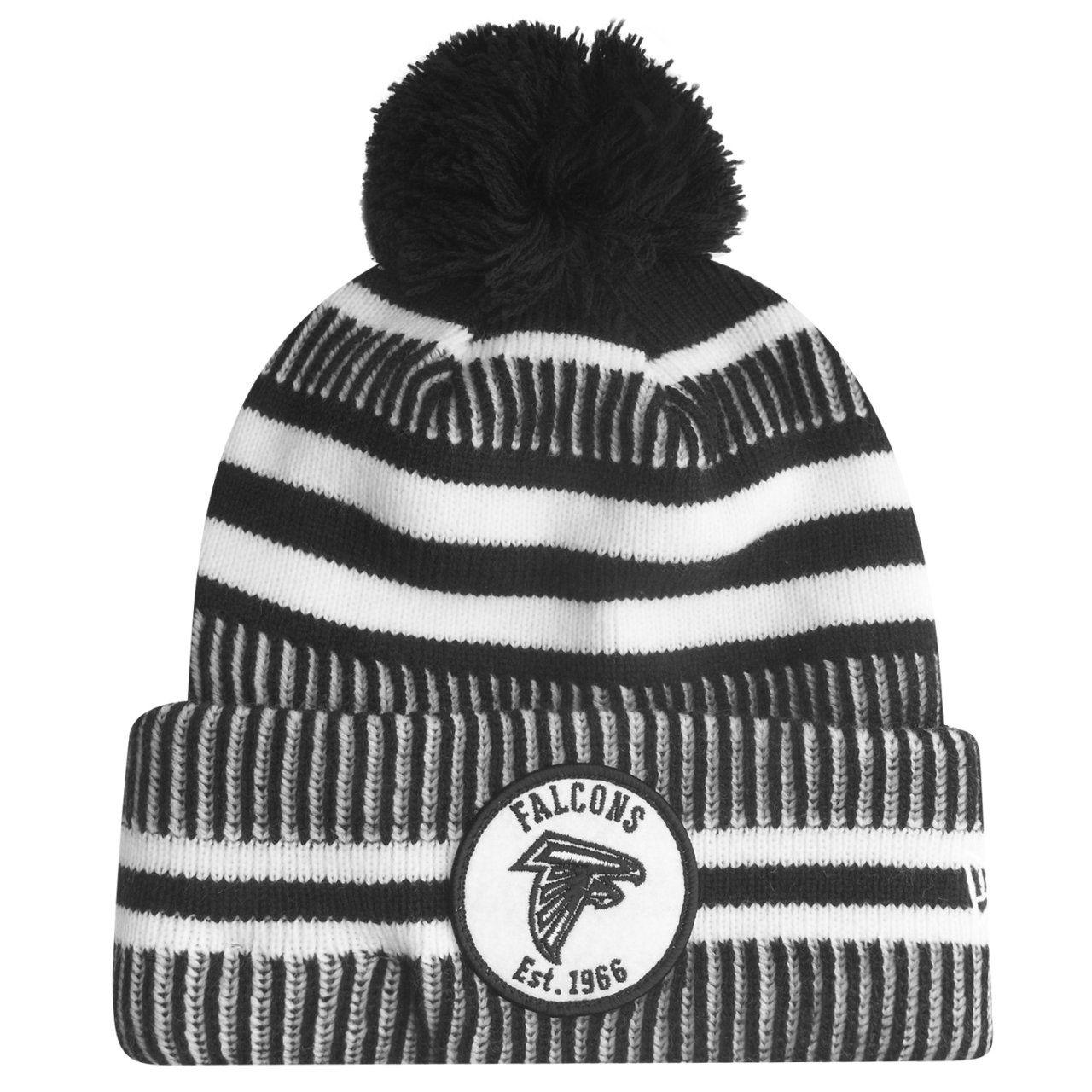 amfoo - New Era Sideline Black Home Bommel Mütze Atlanta Falcons