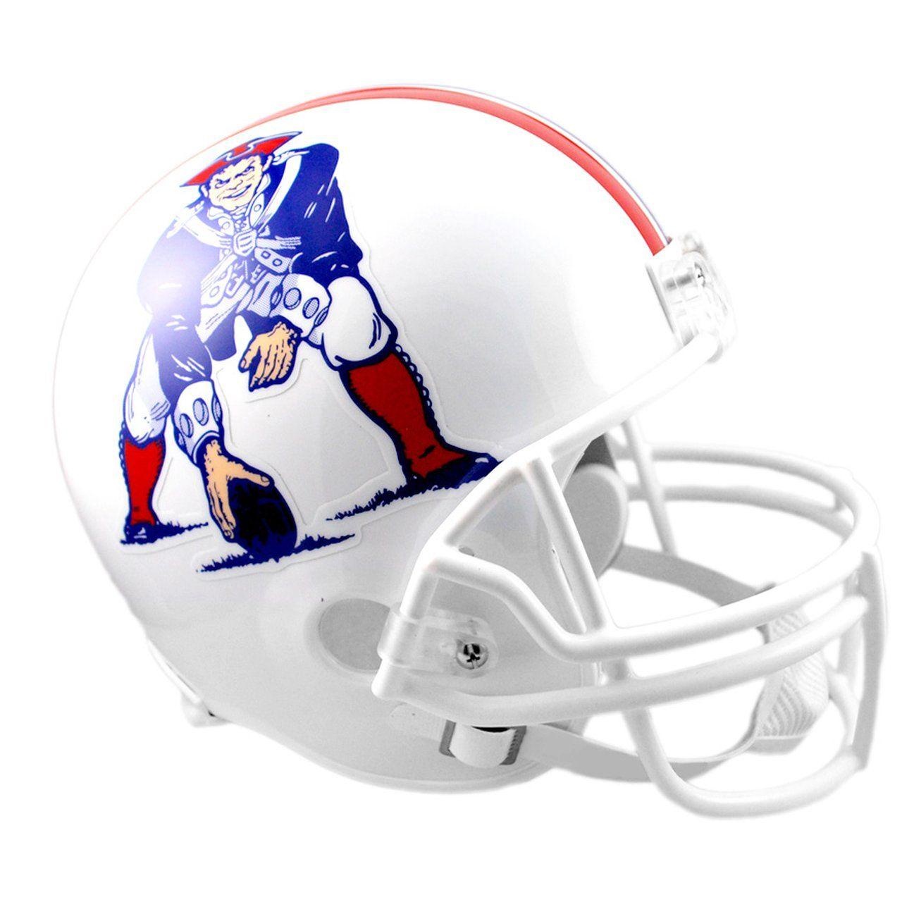 amfoo - Riddell VSR4 Replica NFL Helm - New England Patriots 1982-89