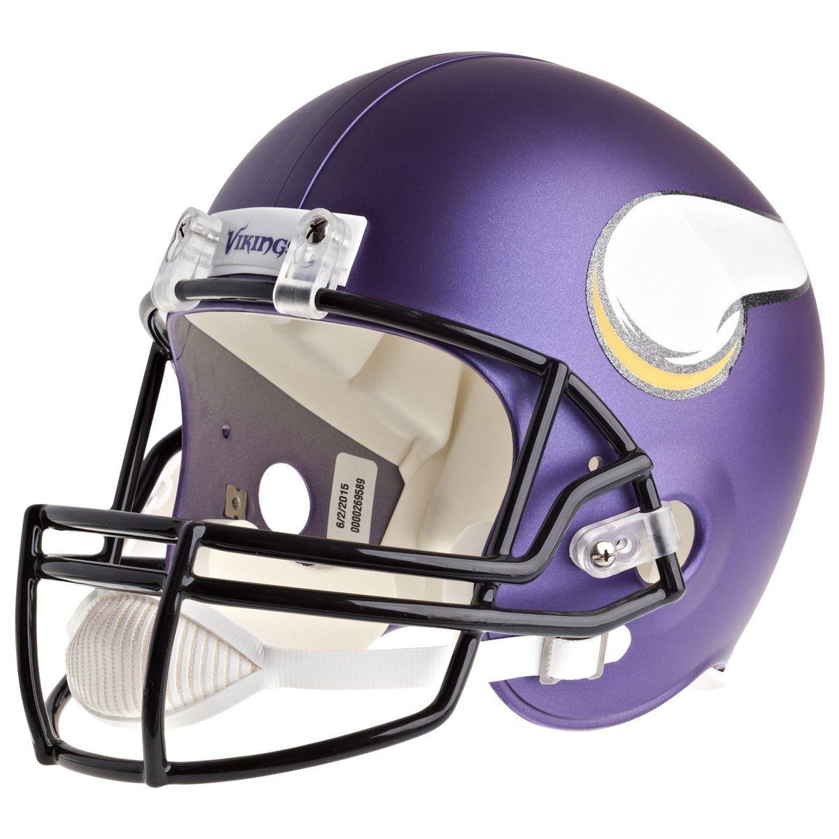 amfoo - Riddell VSR4 Replica Football Helm - NFL Minnesota Vikings