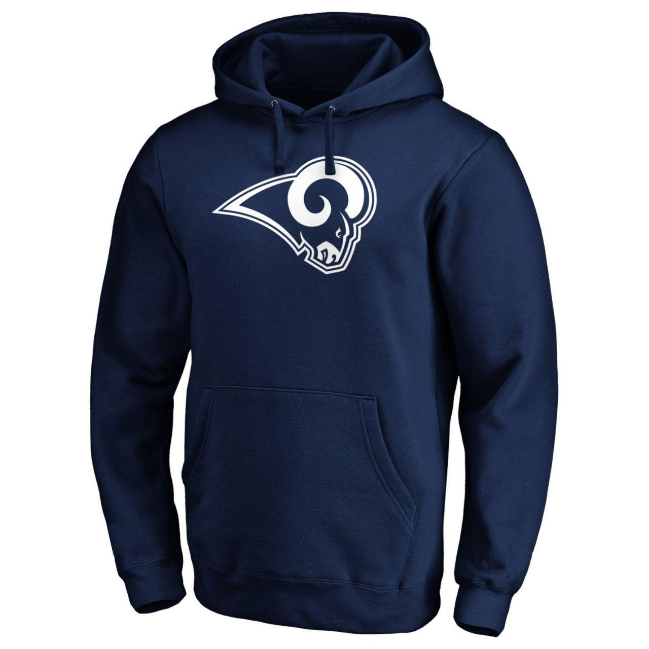amfoo - Los Angeles Rams NFL Fan Hoody Iconic Logo navy