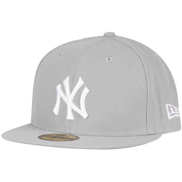 New Era 59Fifty Cap - BASIC New York Yankees grau / weiß
