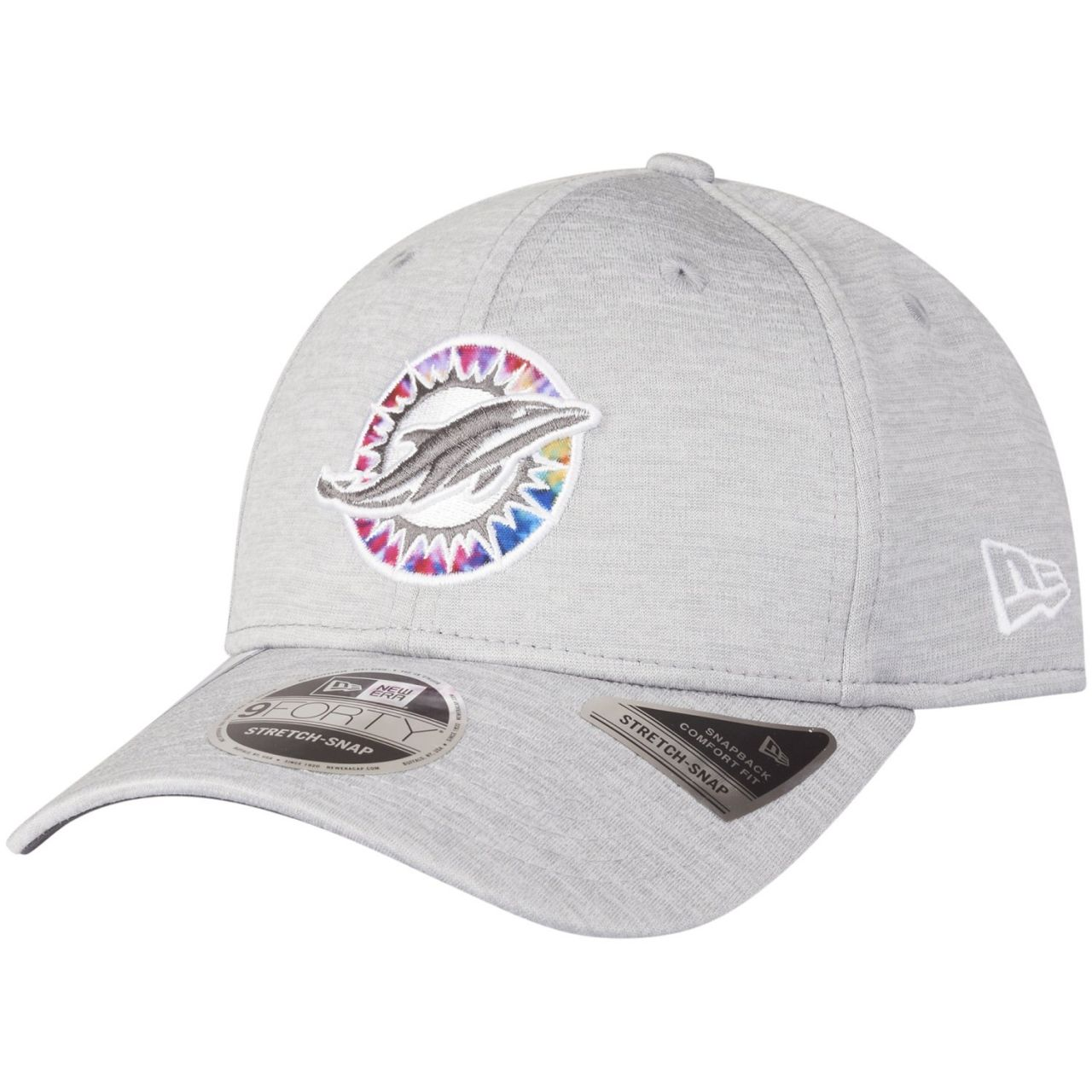 amfoo - New Era 9FORTY Stretch Cap - CRUCIAL CATCH Miami Dolphins