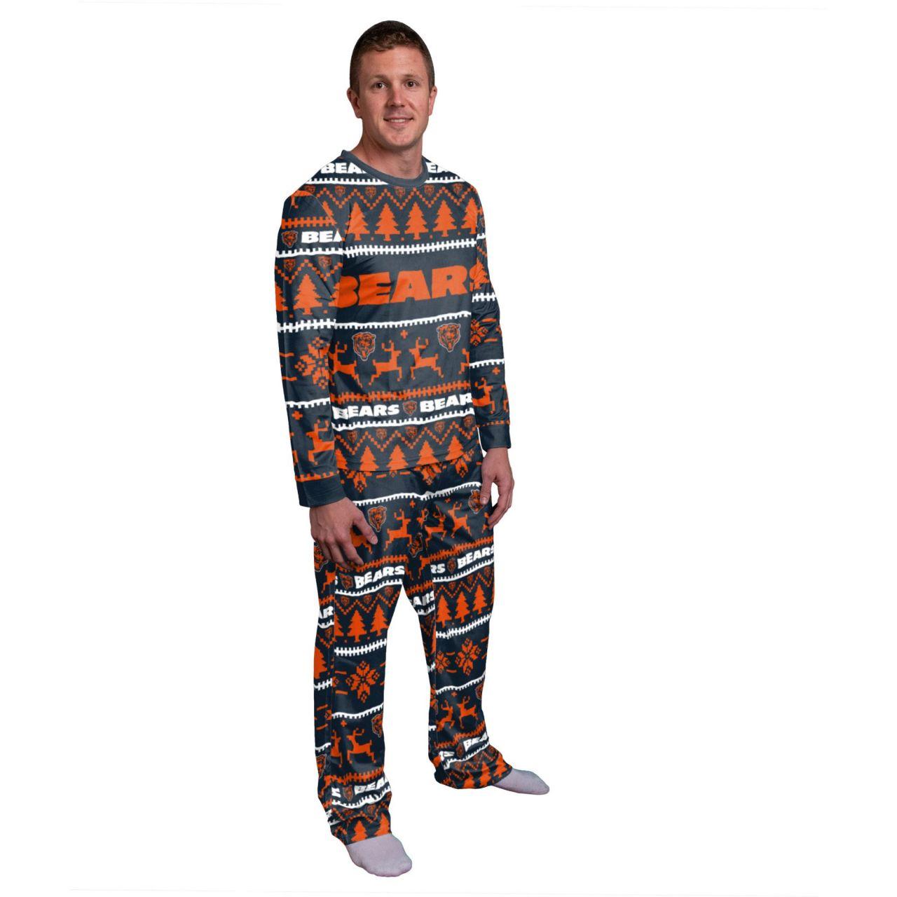 amfoo - NFL Winter XMAS Pyjama Schlafanzug - Chicago Bears