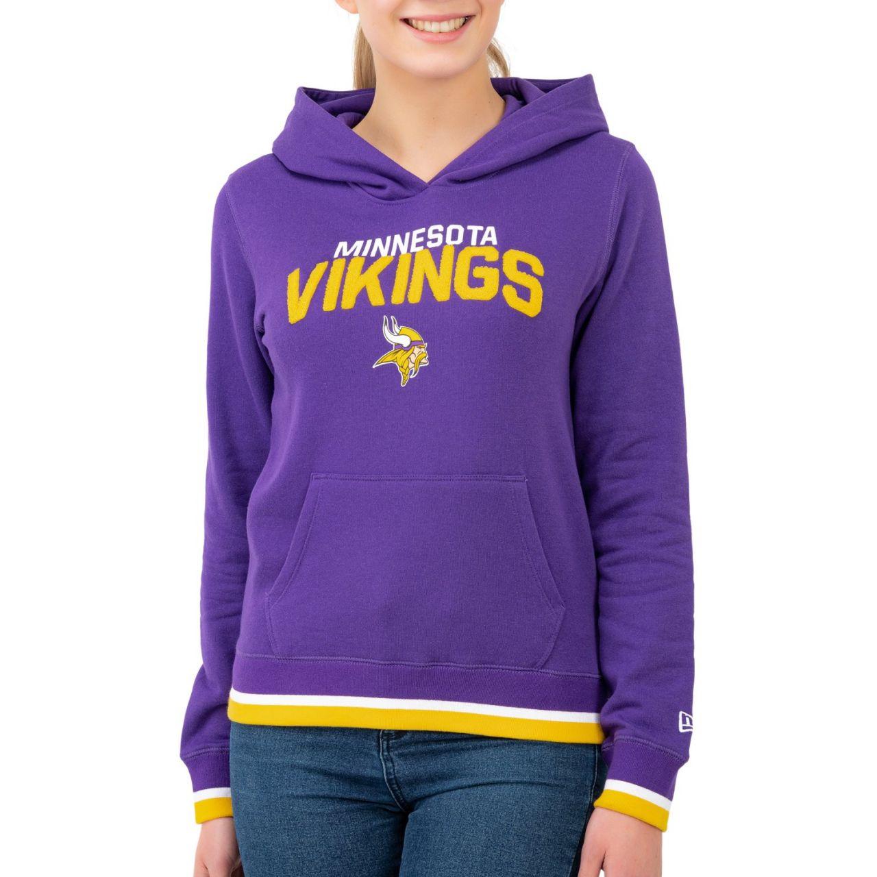 amfoo - New Era Damen Fleece Hoody - NFL Minnesota Vikings