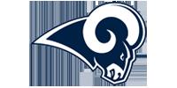 FOCO LED Los Angeles Rams Winterm/ütze Bommel Beanie