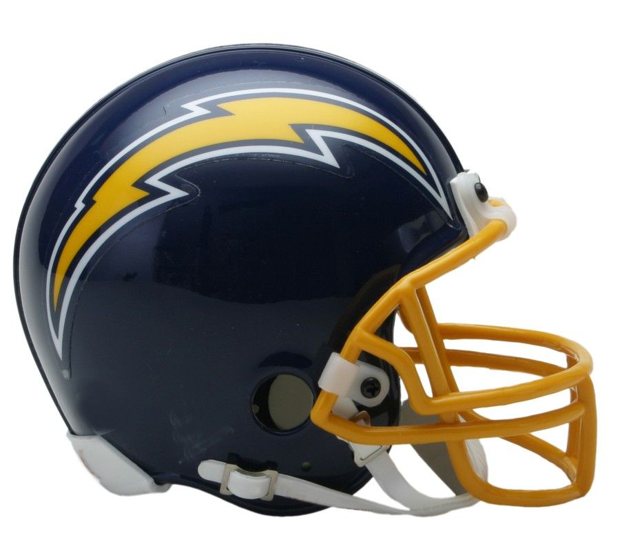 amfoo - Riddell VSR4 Mini Football Helm San Diego Chargers 1974-87