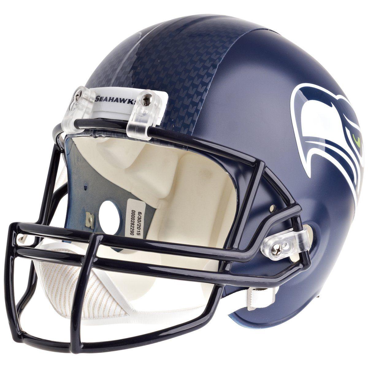 amfoo - Riddell VSR4 Replica Football Helm - NFL Seattle Seahawks