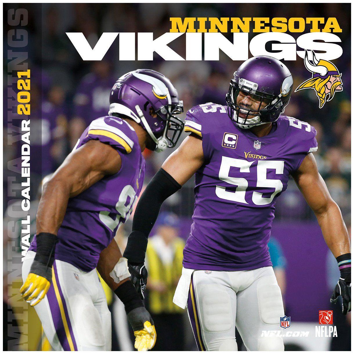 amfoo - Turner NFL 30x30cm Wand-Kalender 2021 Minnesota Vikings
