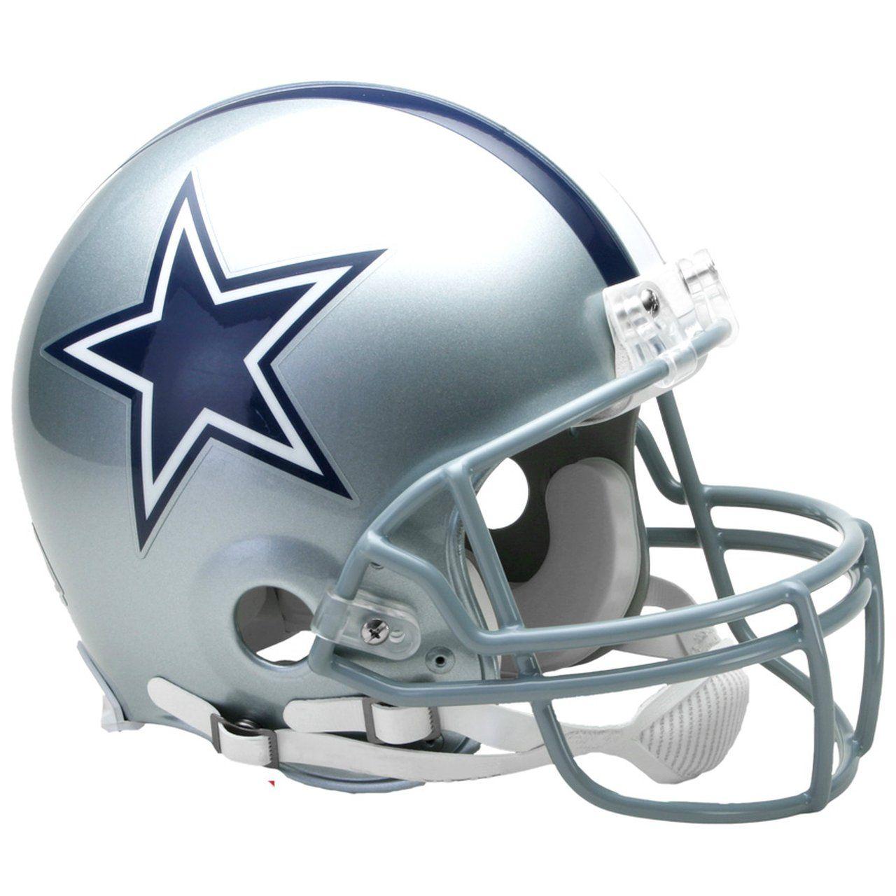 amfoo - Riddell VSR4 Authentic Football Helm - NFL Dallas Cowboys