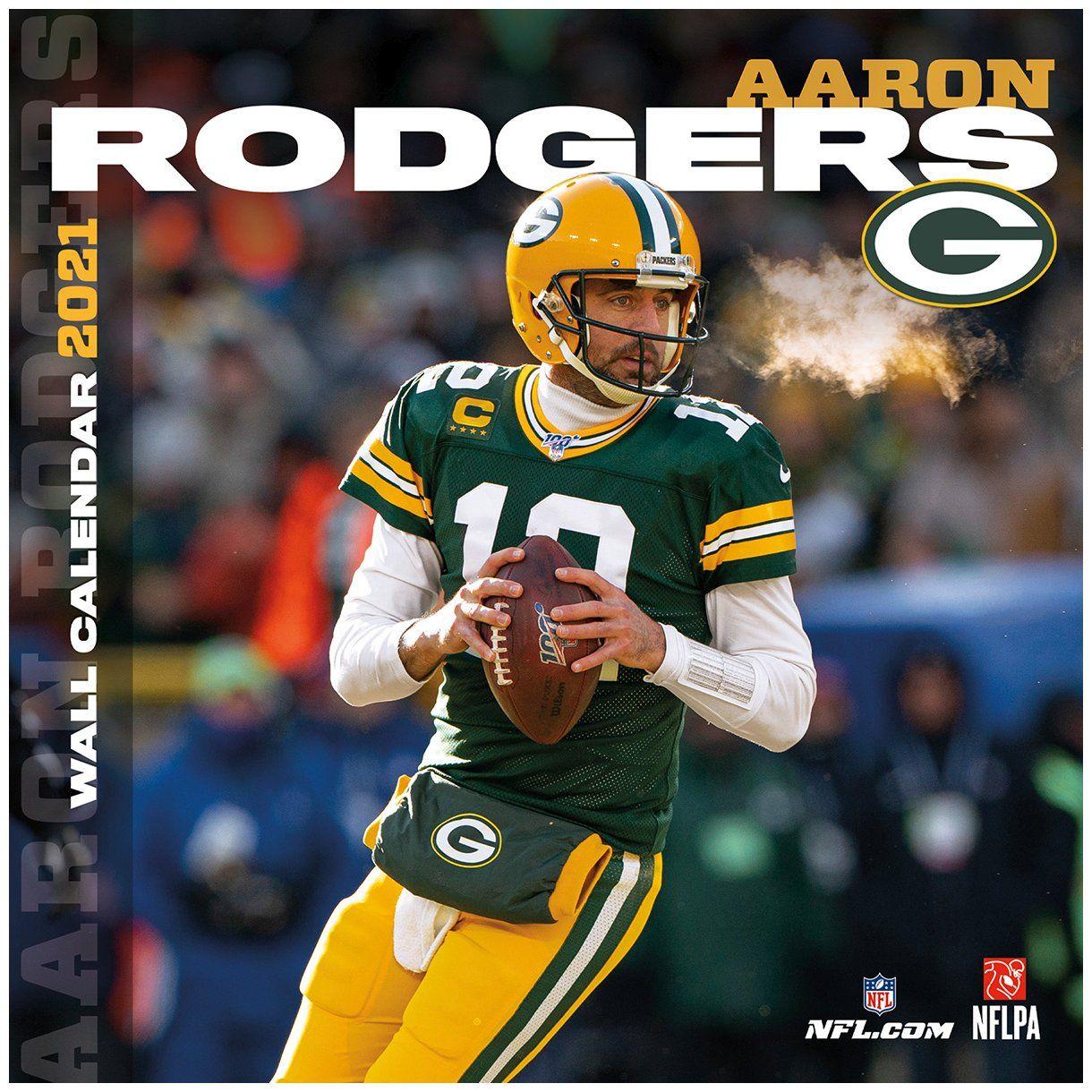 amfoo - NFL Wand-Kalender 2021 Green Bay Packers Aaron Rodgers