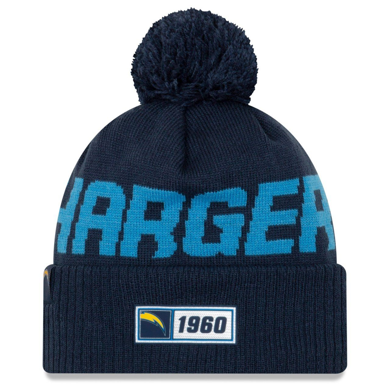 amfoo - New Era Sideline Road 2019 Bommel Mütze Los Angeles Chargers