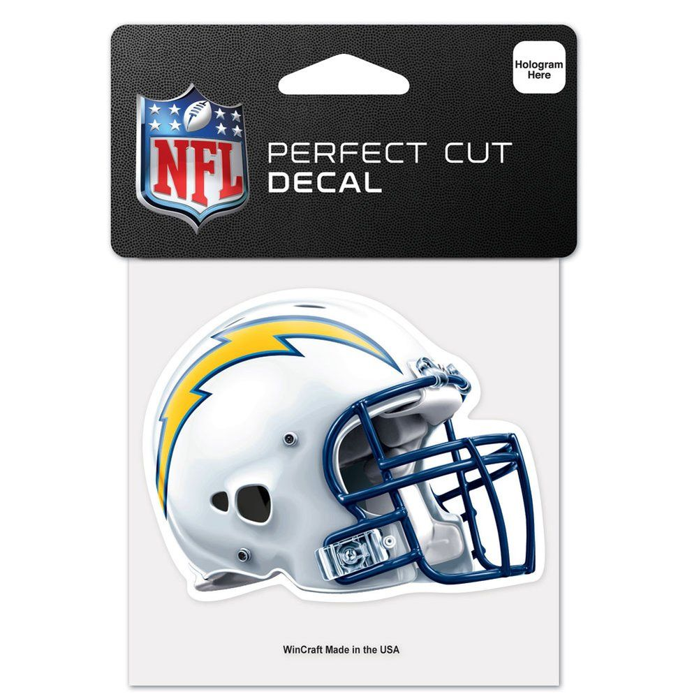 amfoo - Wincraft Helm Aufkleber 10x10cm - NFL Los Angeles Chargers