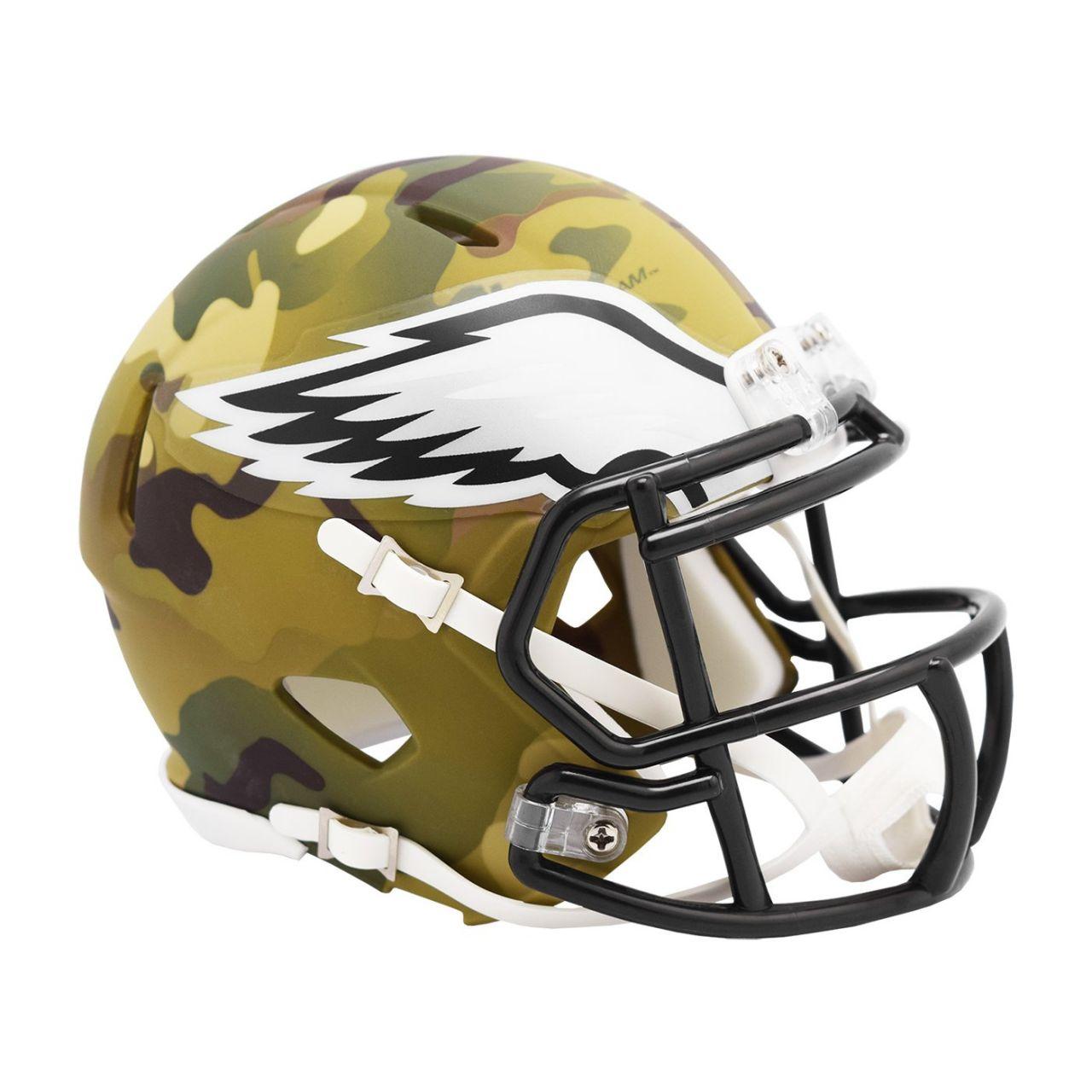 amfoo - Riddell Mini Football NFL Helm MULTICAM Philadelphia Eagles