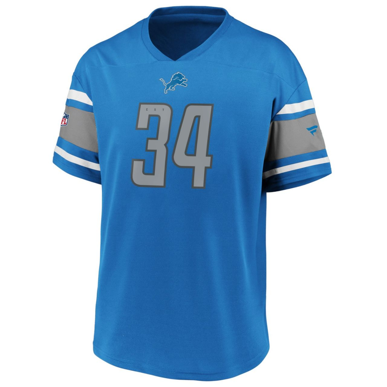 amfoo - Iconic Poly Mesh Supporters Jersey Trikot - Detroit Lions