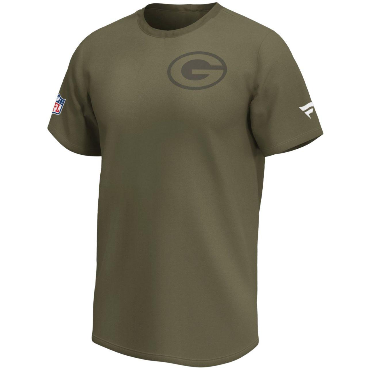 amfoo - Green Bay Packers NFL Fan Shirt Iconic army green